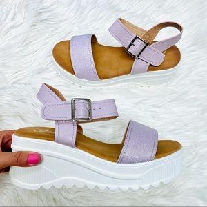 Lavender platform sandal